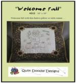 Welcome Fall Table Runner/ Pillow pattern_image